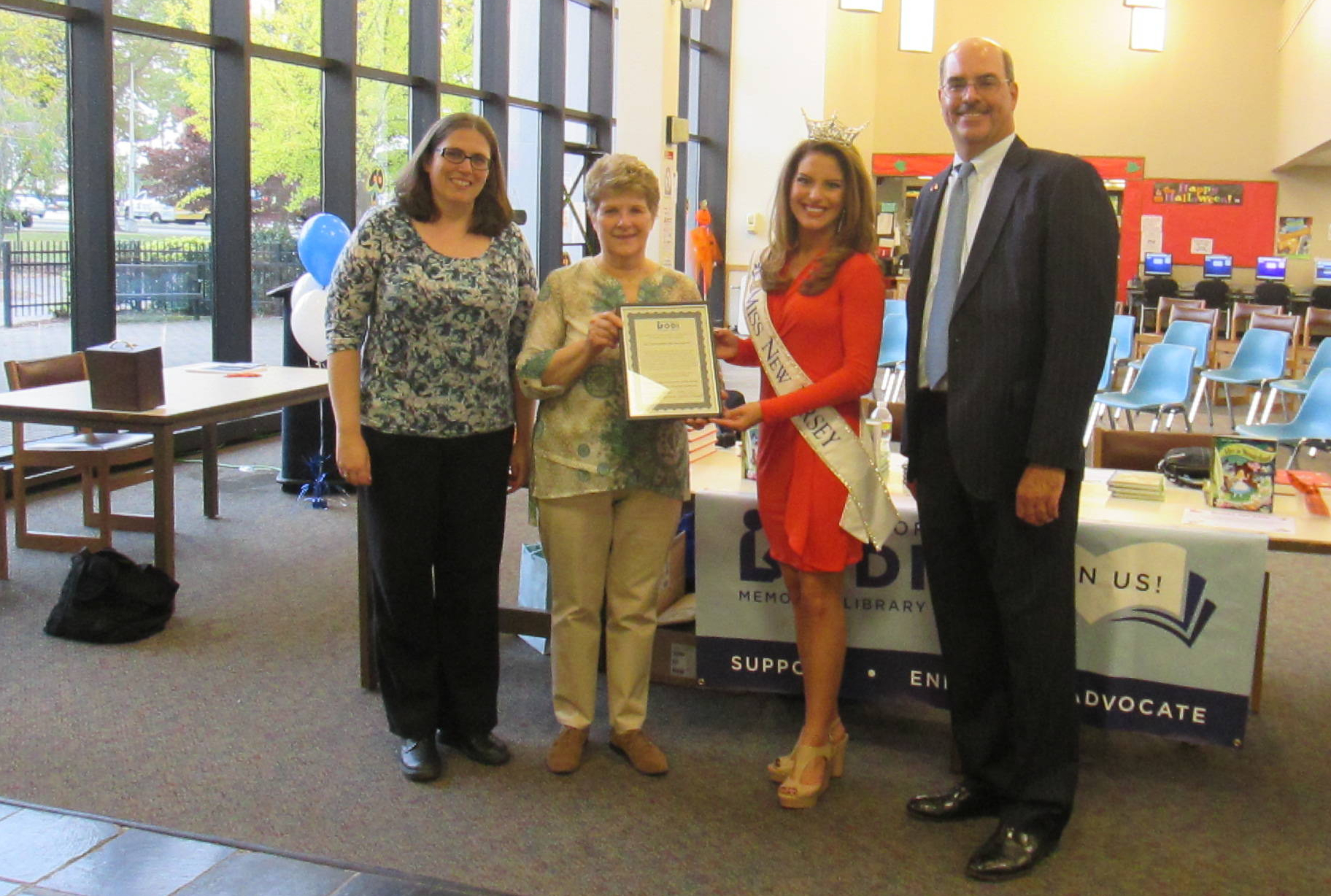 Miss New Jersey Lindsay Giannini receives accommodation from the Borough of Lodi, NJ