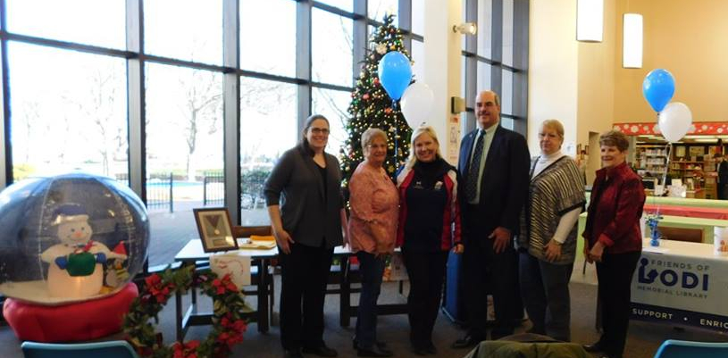 Elaine Zayak with the Friends of the Lodi Memorial Library