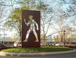 The Invisible Man Sculpture in Riverside Park