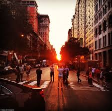 Manhattanhenge on the Upper West Side