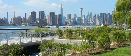 The Manhattan skyline from Greenpoint, Brooklyn