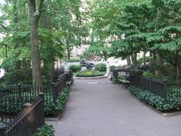 Straus Park in the Upper West Side