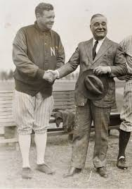 Colonel Jacob Ruppert with Babe Ruth