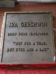 Ira Gershwin Plaque