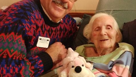 Lillian and I on her 100th Birthday