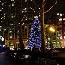 Dante Park Christmas tree
