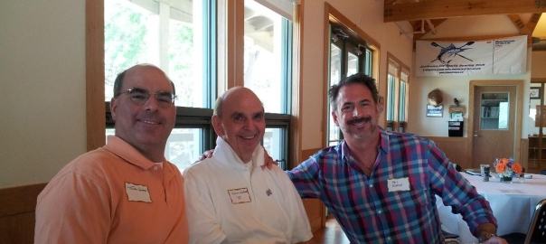 Dad, Marc and I at my father's 60th High School Reunion