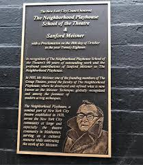 Sanford Meisner Plaque