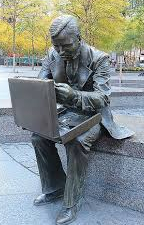 Double Check Businessman statue