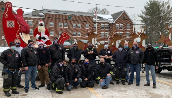 HHFD Santa Around Town 2020