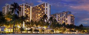 Marriott Waikiki at night